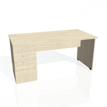 Psací stůl Hobis GATE GSK 1600 24, akát/akát