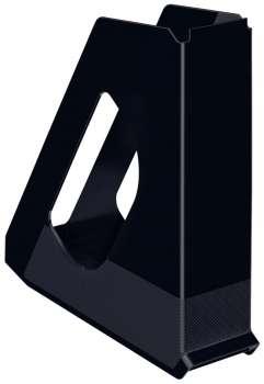 Stojan na časopisy Esselte VIVIDA - plastový, černá
