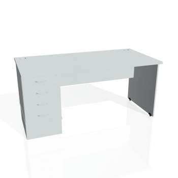 Psací stůl Hobis GATE GSK 1600 24, šedá/šedá
