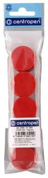 Magnety Centropen - červené, sada 10 ks