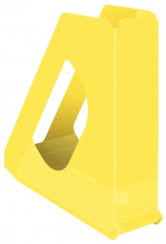 Stojan na časopisy Esselte VIVIDA - plastový, žlutý