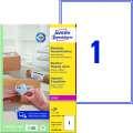 Etikety na zásilky Avery Zweckform - bílé, 199,6 x 289,1 mm, 100 ks