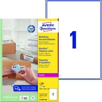 Samolepicí adresní krycí etikety Avery Zweckform - 199,6 x 289,1 mm, 100 ks
