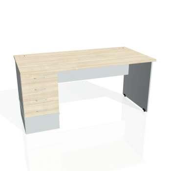 Psací stůl Hobis GATE GSK 1600 24, akát/šedá
