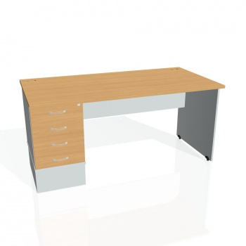 Psací stůl Hobis GATE GSK 1600 24, buk/šedá