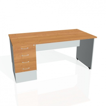Psací stůl Hobis GATE GSK 1600 24, olše/šedá