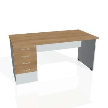 Psací stůl Hobis GATE GSK 1600 24, višeň/šedá
