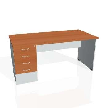 Psací stůl Hobis GATE GSK 1600 24, třešeň/šedá