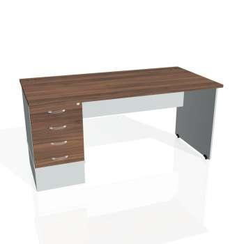 Psací stůl Hobis GATE GSK 1600 24, ořech/šedá