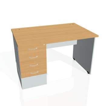 Psací stůl Hobis GATE GSK 1200 24, buk/šedá