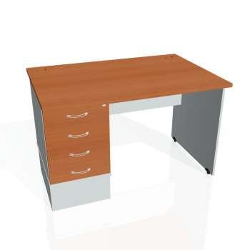 Psací stůl Hobis GATE GSK 1200 24, třešeň/šedá