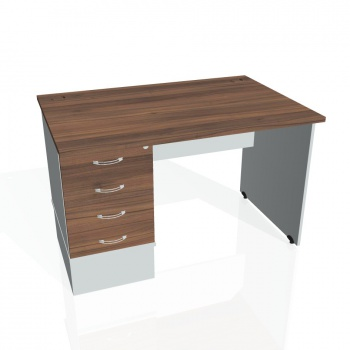 Psací stůl Hobis GATE GSK 1200 24, ořech/šedá