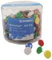 Kovové připínáčky Donau - 300 ks, mix barev