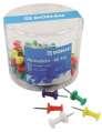 Nástěnkové připínáčky Donau - 60 ks, mix barev