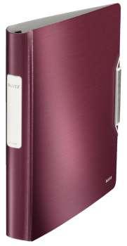 Čtyřkroužkový pořadač LEITZ 180° Active STYLE - A4, mobilní, plastový, hřbet 6,5 cm, granátově červený