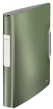 Čtyřkroužkový pořadač LEITZ 180° Active STYLE - A4, mobilní, plastový, hřbet 6,5 cm, zelenkavý
