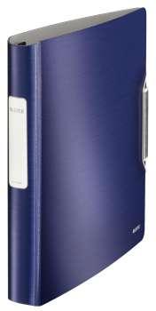Čtyřkroužkový pořadač LEITZ 180° Active STYLE - A4, mobilní, plastový, hřbet 6,5 cm, titanově modrá