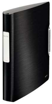 Čtyřkroužkový pořadač LEITZ 180° Active STYLE - A4, mobilní, plastový, hřbet 6,5 cm, saténově černá