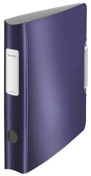 Pákový pořadač LEITZ 180° Active STYLE - A4, mobilní, plastový, hřbet 6,5 cm, titanově modrý