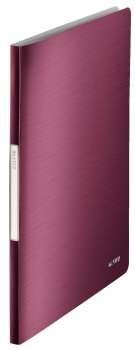Katalogová kniha LEITZ STYLE - A4, granátově červená, 20 kapes