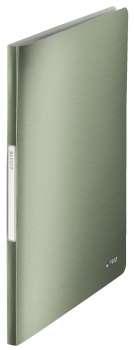 Katalogová kniha LEITZ STYLE - A4, zelenkavá, 20 kapes