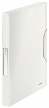 Box na dokumenty s gumičkou LEITZ STYLE - A4, arkticky bílý