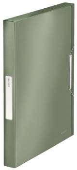 Box na dokumenty s gumičkou LEITZ STYLE - A4, zelenkavý