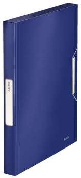 Box na dokumenty s gumičkou LEITZ STYLE - A4, titanově modrý