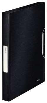 Box na dokumenty s gumičkou LEITZ STYLE - A4, saténově černá