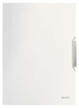 Desky na dokumenty s chlopněmi a gumičkou LEITZ STYLE - A4, arkticky bílé
