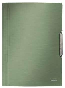 Desky na dokumenty s chlopněmi a gumičkou LEITZ STYLE - A4, zelenkavé