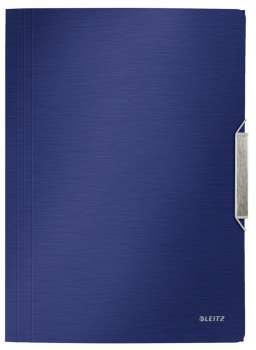 Desky na dokumenty s chlopněmi a gumičkou LEITZ STYLE - A4, titanově modré
