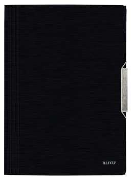 Desky na dokumenty s chlopněmi a gumičkou LEITZ STYLE - A4, saténově černá