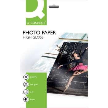 Fotopapír Q-Connect - A4, 260 g/m2, lesklý, 20 ks