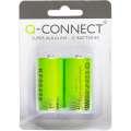 Alkalické baterie Q-Connect - MN1400, LR14, C, 2 ks