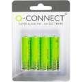 Alkalické tužkové baterie Q-Connect - AA, 1,5V, 4 ks