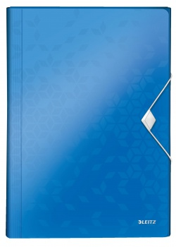 Aktovka na dokumenty LEITZ WOW - A4, metalicky modrá