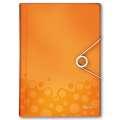 Aktovka na dokumenty LEITZ WOW - A4, metalicky oranžová