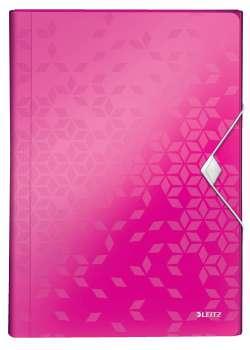 Aktovka na dokumenty LEITZ WOW - A4, metalicky růžová
