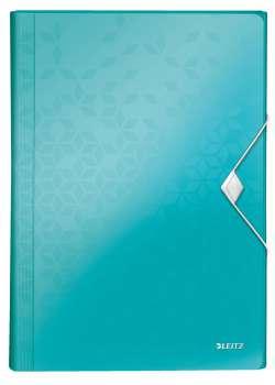 Aktovka na dokumenty LEITZ WOW - A4, ledově modrá