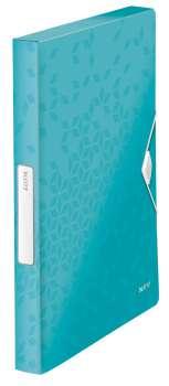 Box na dokumenty s gumičkou LEITZ WOW - A4, ledově modrý
