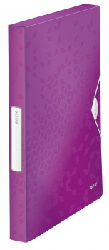 Box na dokumenty s gumičkou LEITZ WOW - A4, purpurový