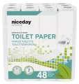 Toaletní papír Niceday Professional - 2vrstvý, bílý recykl, 22 m, 48 rolí