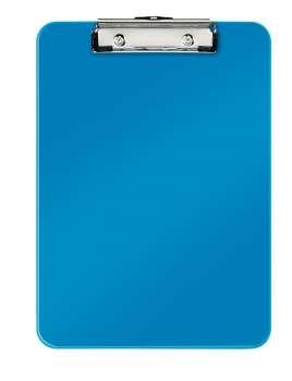 Jednodeska Leitz WOW - A4, s klipem, metalicky modrá