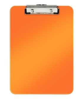 Jednodeska Leitz WOW - A4, s klipem, metalicky oranžová