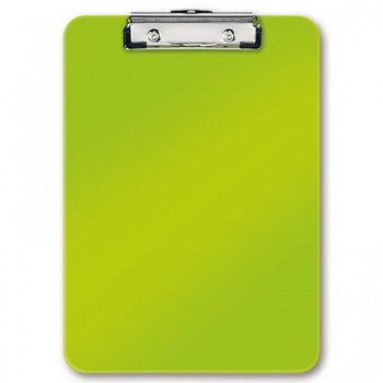 Jednodeska Leitz WOW - A4, s klipem, metalicky zelená