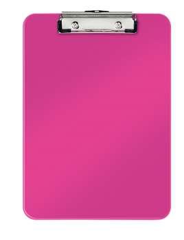 Jednodeska Leitz WOW - A4, s klipem, metalicky růžová