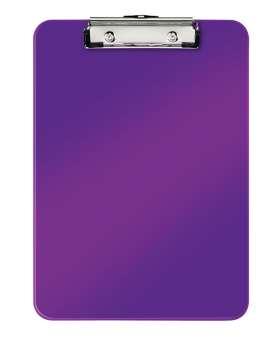 Jednodeska Leitz WOW - A4, s klipem, purpurová