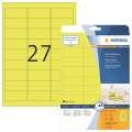 Odolné etikety Herma - 63,5 x 29,6 mm, neonově žluté, 540 ks