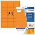 Odolné etikety Herma - 63,5 x 29,6 mm, neonově oranžové, 540 ks